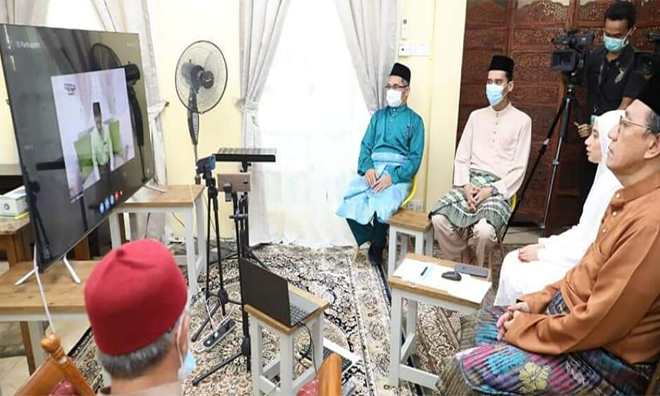 Malaysia's first virtual wedding officiated by JAWI during the MCO
