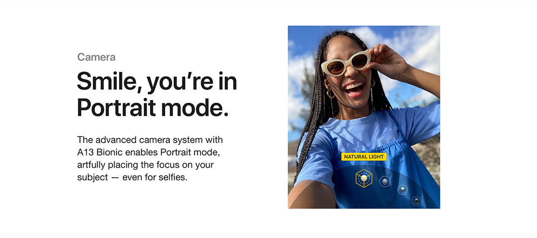 Smile, you're in Portrait mode.