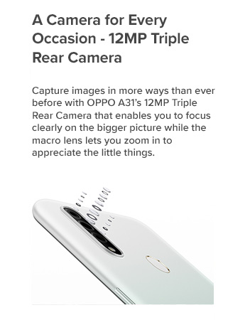 A Camera for Every Occasion - 12MP Triple Rear Camera