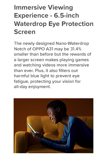 Immersive Viewing Experience - 6.5-inch Waterdrop Eye Protection Screen
