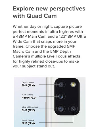 Explore new perspectives with Quad Cam