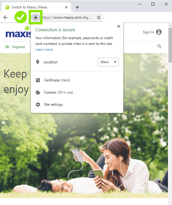 maxis phising and scam protection 2