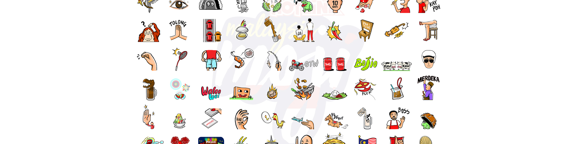 60 Malaysia-themed GIFs - the first in the world with Hotlink Malaysiamoji!