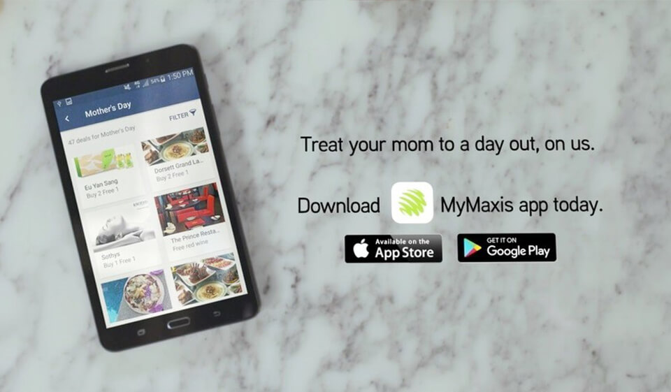 download the MyMaxis app today