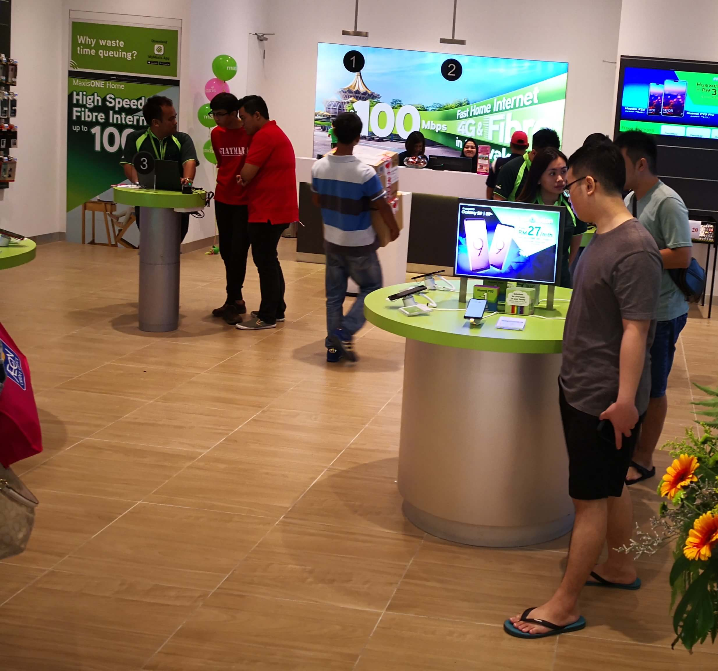 Inside the Maxis store
