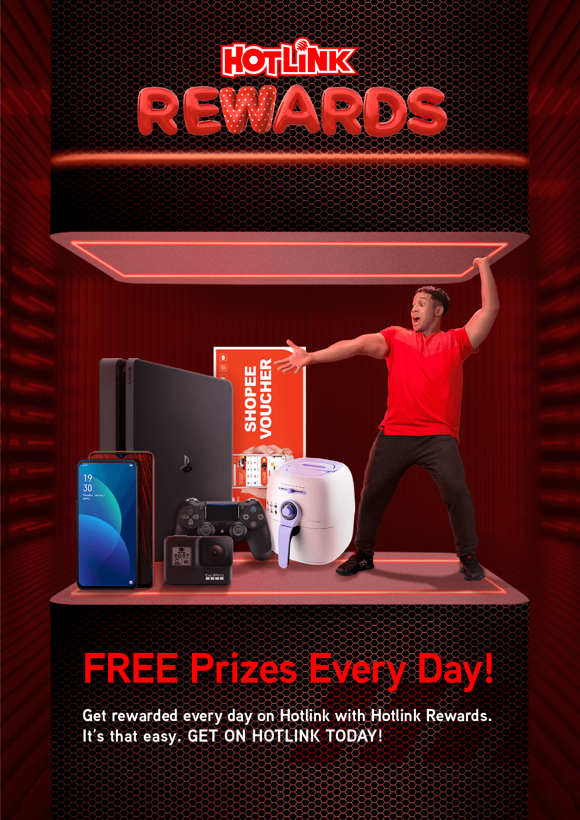 Hotlink Rewards, Free Prizes Every Day