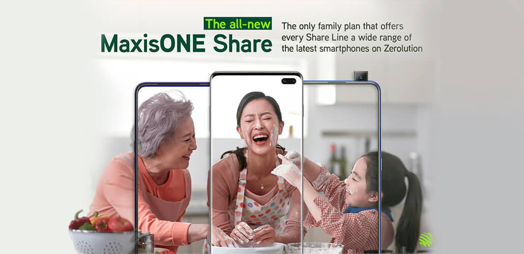 MaxisONE Share is now the first and only plan where Share Lines can purchase the latest smartphones