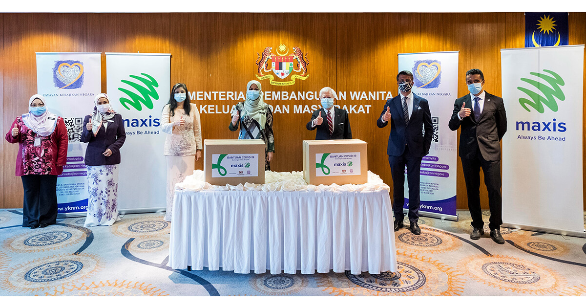 Maxis helps to ease burden of Covid-19 impacted communities with RM500k to Yayasan Kebajikan Negara