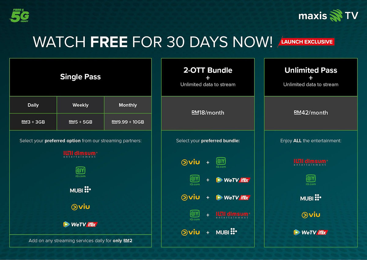 All-new Maxis TV unveils first-in-market OTT bundles for total control over your entertainment experience