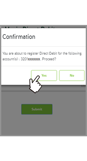 Step 3 - Manage direct debit